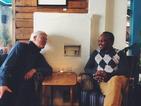 RESPEKT OG FORSTÅELSE. Imam Mohammed Bagal Serag og Sokneprest Ottar Strand snakker om viktigheten av felles respekt og forståelse.