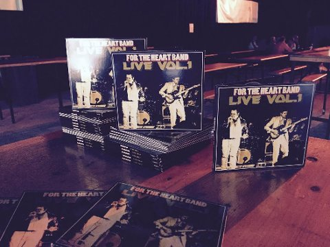 PLATEKLARE: For The Heart Band er klare med sin første plateutgivelse. FOTO: ROGER ØDEGÅRD