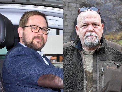 Ordfører Roger Evjen (t.v.) og varaordfører Geir Olsen i Aurskog-Høland kommune.