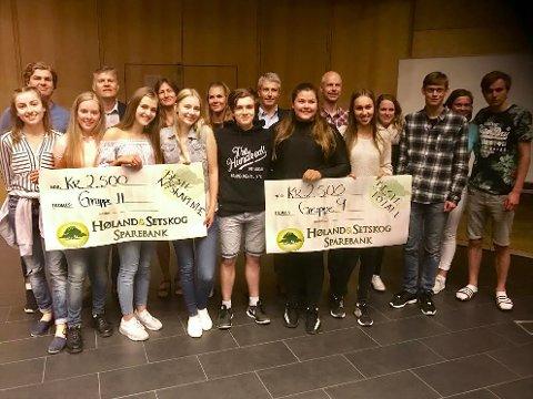 STOLTE VINNERE: BVS-elevene viste stort engasjement. Her er vinnerne fra denne ukes alternative skoledager.