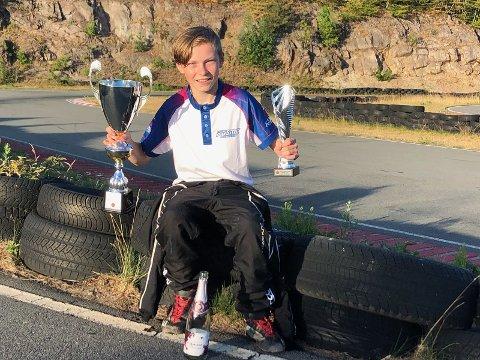 TOK TREDJEPLASS: Marcus Myrseth tok en fin tredjeplass toalt i sommercupen.