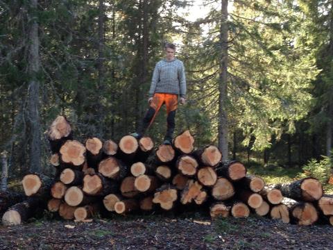 Roser brannvesenet: Grunneier John Birk Johnsen, som eier skogen ved Køddebakken på Mangenskogen, hvor det brant i forrige uke.