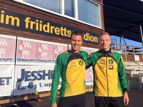 EM-KLARE: Markus Einan (til høyre) er førstereis i EM, og legger ikke skjul på at det er en stor trygghet å ha med sin langt mer rutinerte klubbkamerat Thomas Roth på ferden. Foto: Hans Jørgen Borgen