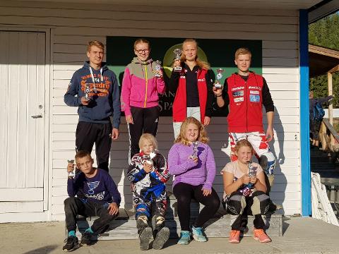 LOKALE FARTSFANTOMER: Denne gjengen fra NMK Aurskog-Høland gjorde det skarpt på Eksismoa. FOTO: PRIVAT