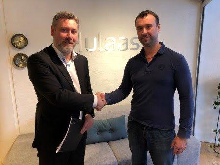 Avtale: Petter Mellquist, CEO i Biovac Environmental Technology AS og Terje Skaarnes, tidligere eier i BRA Miljöteknik Sverige AB