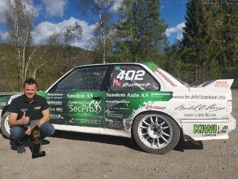 Hans-Jøran Østreng fra Høland vant a-finalen i første NM-runde i rallycross. Foto: Privat