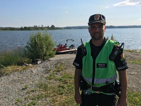 Innsatsleder: Bjørn Christian Willersrud leder politiets arbeid med drukningssaken i Hemnessjøen. Foto: Bjørn Ivar Bergerud