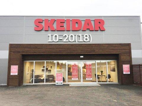 Tung start: Møbelkjeden Skeidar har fått en trå start i Bjørkelangen Næringspark.