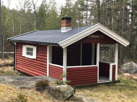 LITE OBJEKT: Skogshytta Drøplebekk rommer 12 kvadratmeter.