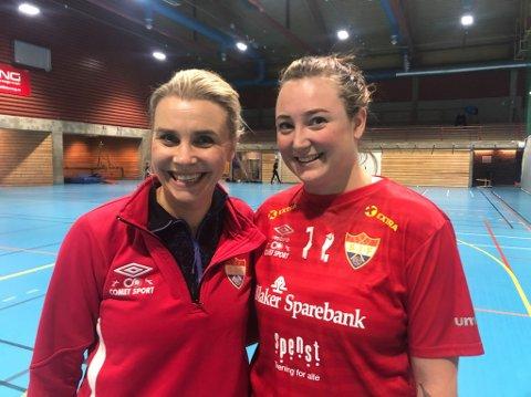 HÅNDBALLGLEDE: Silje Lien Nilsen (t.v.) og Ina Stemre håper noen ønsker å bli med på håndballbanen sammen med dem.