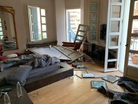 Leiligheten hvor Kristins samboer satt og jobbet noen timer etter at hun dro hjem til Norge 4. august.