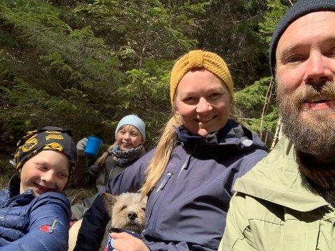 FAMILIEIDYLL: Barna Trygve (t.v.) og Kristine og kona Liv betyr alt for Erlend Løken Volden, som er i ny jobb.