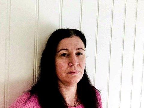 Anita Cathrine Sæterøy fra Hemnes måtte av veien for å unngå en kollisjon.