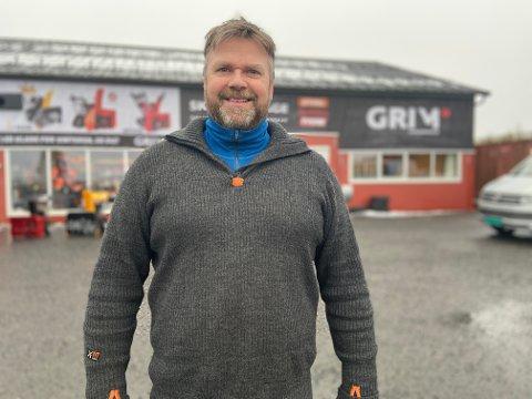 FORNØYD: Kai Christian Johansen, daglig leder i Grim Maskinservice i Aurskog, kan si seg fornøyd med det første året.