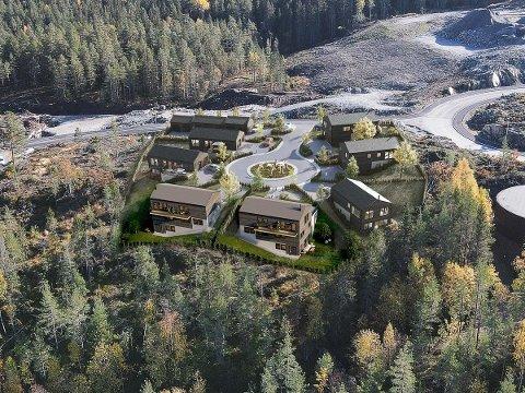 Sju eneboliger med garasje, utsikt og barnevennlig beliggenhet er planlagt bygget her.
