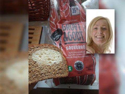 ET BRØD UTENOM DET VANLIGE: Eli-Anne Strandmann tok kontakt med produsenten av brødet med tanke på å finne ut hvordan det kun ha seg at loff tilsynelatende hadde dukket opp i et brød merket som grovt.