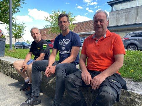 STARTET BEDRIFT: Tor Slemdal (t.v.), Kjell Skjønhaug og Geir Moe har nettopp startet en egen bedrift – og har mye kompetanse på laget.