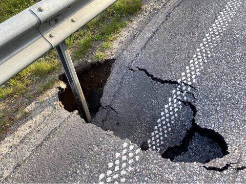 Fylkesvei 170/Setskogveien må utbedres, og blir stengt fra mandag morgen.