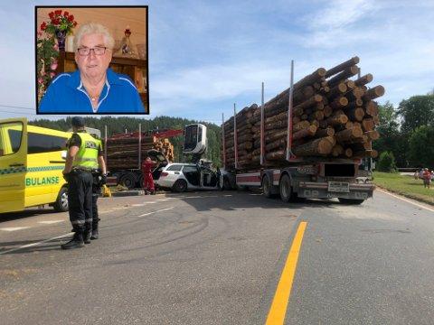 HARDT SKADET: Thore Enerud ble hardt skadet etter ulykken i Tangenkrysset på Setskog.