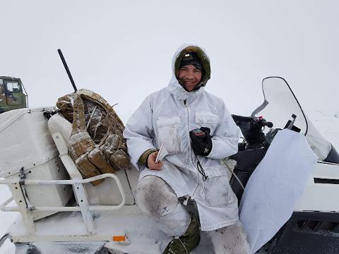 Her er Kenneth på vinterøvelse i 2018 med Hærens Befalsskole. Nå er han stasjonert i Georgia som NATO-offiser.