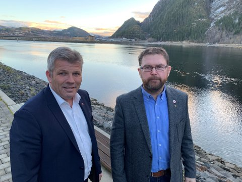 Bjørnar Skjæran og Per Christian Jacobsen. er opptatt av industripolitikk og det grønne skiftet i Nordland.