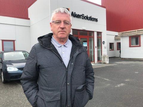 Tillitsvalgt fra Egersund, Oddvar Hølland, hadde onsdag reist til Sandnessjøen for å være med da de ansatte fikk beskjeden om at Alker Solutions legger ned i Sandnessjøen.