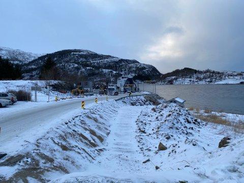 BYGGING: Det blir ikke helt stengt ved Levang i vinterferien likevel, og Nordland Fylkeskommune setter også inn en midlertidig rute Nesna–Sandnessjøen.
