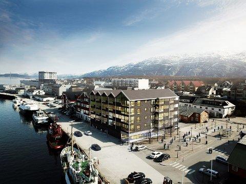 Illustrasjon Torggården slik det kan bli seende ut.