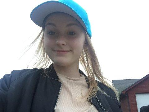 SELFIE: Dette bildet tok Sunniva Ødegård av seg sjølv 29. juli 2018. Kort tid seinare vart 13-åringen drepen. Bildet vart presentert av aktor i starten av rettssaka.