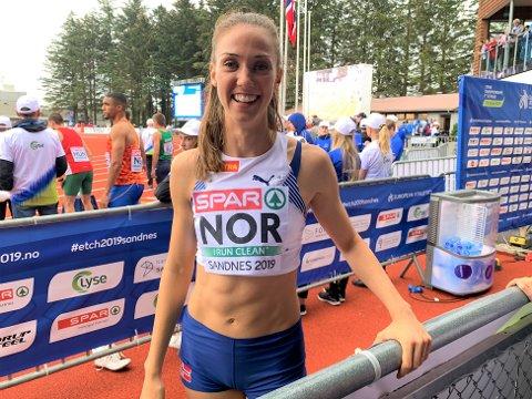 VANT: På avslutningsdagen var Sara Dorthea Jensen med å vinne en overraskende seier med Norge i lag-EM