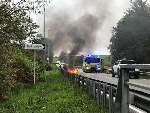 Trafikkulykke på Solavegen i Klepp.