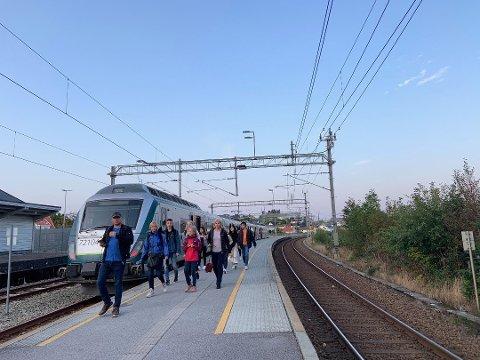 41 MILLIONER TIL JÆRBANEN: Når dobbeltsporet mellom Stavanger og Egersund er komplett, er målet å øke antall reisende på Jærbanen fra 3,6 millioner årlig til ni millioner.