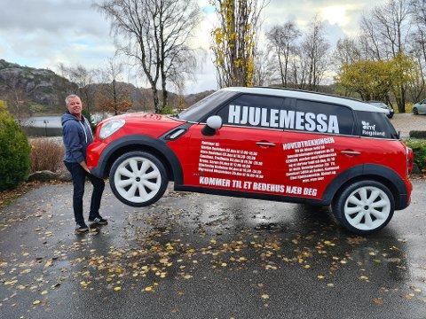 HJUL: Med denne bilen skal Torgeir Lauvås være med å arrangere julemesser på Jæren i desember.