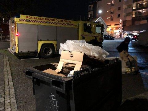 Andre gang på kort tid at noen setter fyr på en søppeldunk midt i Bryne sentrum.