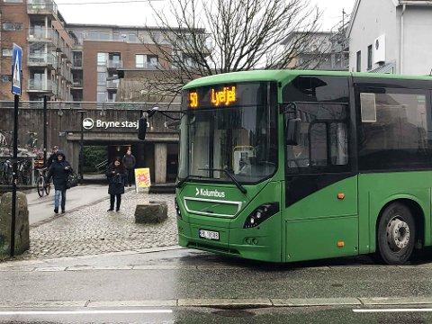 STYRKAR BUSSTILBODET: Frå mandag blir det fleire bussar på rute 50 - til og frå Lyefjell og Bryne.