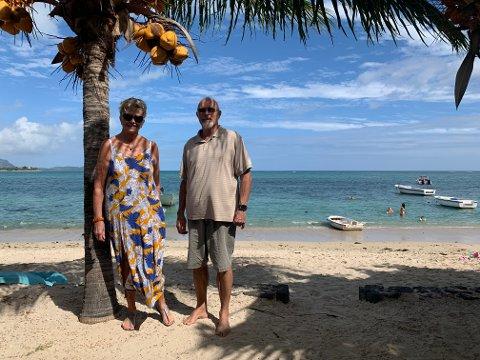 IDYLL: – Me synest denne staden er den finaste på heile øya, seier Aud Iren og Mikal Bjørløw om staden på Mauritius der dei har vore koronafaste sidan mars.
