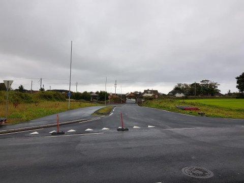 FERDIG: Rundvegen ved Vigrestad er klar én måned før tiden.