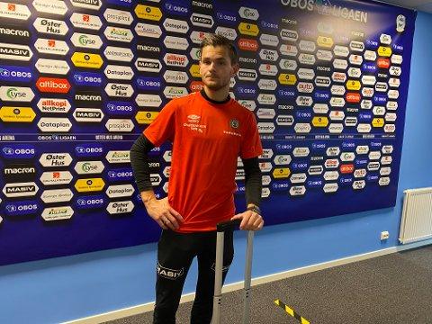 ÆRLIG: Robert Undheim la ikke skjul på hva han mente om trenerspørsmålet i Bryne, før han forlot Øster Hus Arena etter 2-0-tapet for Sandnes.
