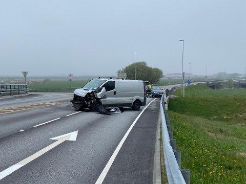 Trafikkulykken der to biler kolliderte torsdag morgen, skjedde ved Borekrysset i Klepp.