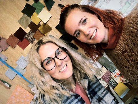 FARGEGLADE: Bente Scheie (t.v.) og Randi Jelsa Skrettingland er opptatt av farger, men det er lite som er tilfeldig når duoen i Cave & Cube AS går løs på et oppussingsprosjekt.