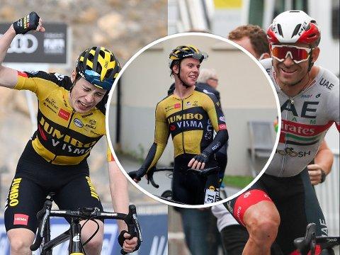 SYKLER I DISTRIKTET: Danske Jonas Vingegaard (til venstre) (Jumbo-Visma) ble nummer to i Tour de France. Tobias Foss endte på 9. plass i Giro d'Italia, mens Alexander Kristoff jakter en topplassering i Tour of Norway, som sykles torsdag til fredag.