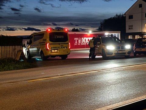 ULYKKE: Påkjørselen har skjedd utenfor utsalgsstedene Jærbakeren og Gresk Grill & Catering på Tu.
