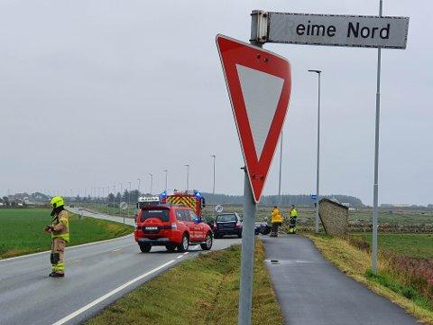 ULYKKE: Ulykken skal ha skjedd i sørgående retning på Fv44 i Hå.