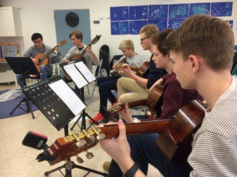 VISER SEG FRAM: På konserten i Eidsfoss kirke kan du få høre Vestfold gitarensemble og cirka 20 dyktige kulturskoleelever i ulike ensembler og som solister.