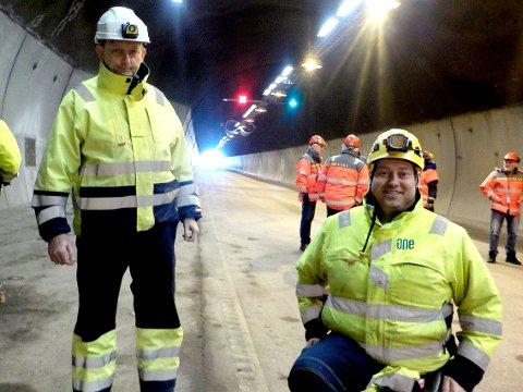 ENTREPRENØR: Administrerende direktør Oddgeir Amundsen (til v.) og prosjektleder Olav Amund Myklebust i Kraftmontasje AS.