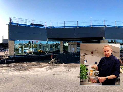 FORBEREDER: Viktige elementer er i ferd med å falle på plass ved Ørjan Sønvisens nye spisested Påfyll på Toppen.