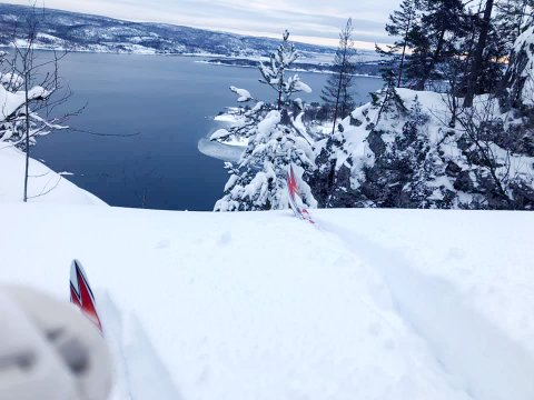 UTSIKT: Den nye skiløypa går i et tidvis svært naturskjønt område.