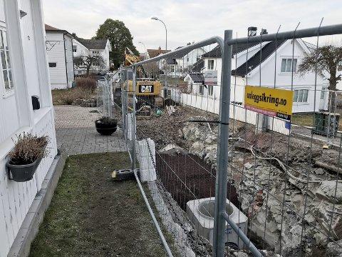 Ikke lett å være bud: Her i Hagemannsveien er det ikke mye vei for tiden. Foto: Pål Nordby