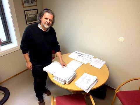 ORGANISATOR: Tidligere kirkeverge Svein Beksrud i Sande er hyret inn for å organisere årets kirkevalg i Holmestrand, Hof og Sande. Foto: Lars Ivar Hordnes
