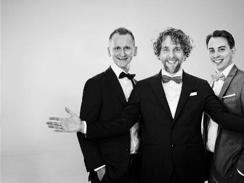 NY TENORBESETNING: Roald Haarr (t.v.) og Jan-Tore Saltnes har fått med seg Nils Georg Nilsen som nytt medlem i Nordic Tenors. (Pressefoto)